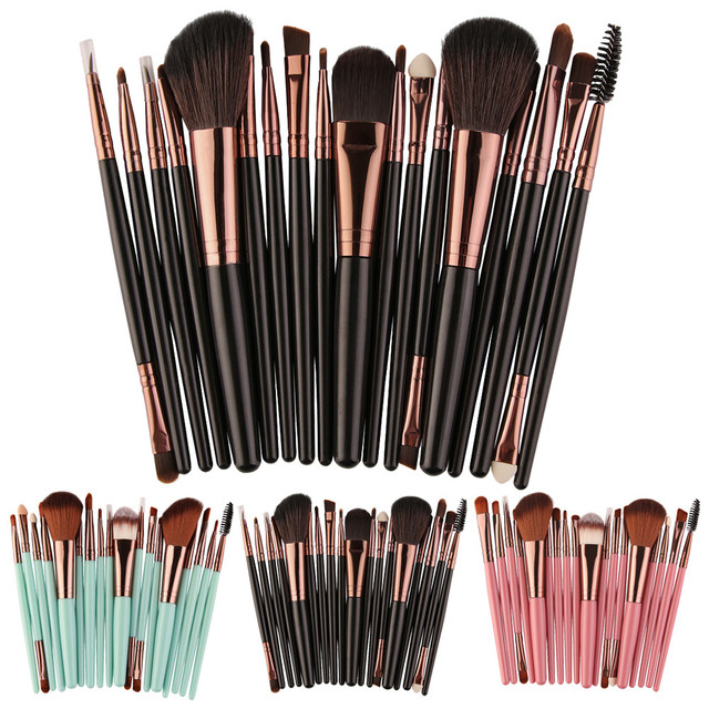 New Fashion Style 18 pcs Makeup Brush Set tools Make-up Toiletry Kit Wool Make Up Brush Set Pincel de maquiagem zsmw
