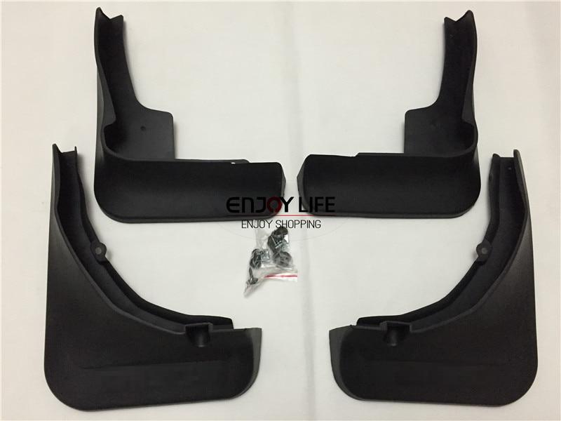 4pcs Black Front+Rear Mudguard Mud Flaps Splash Guard Fender For Benz GLC Class X253 GLC200 GLC250 GLC300 2015 2016 Car Styling chrome rear bumper trunk door sill plate cover for mercedes x205 glc benz glc200 glc250 glc300 2015 2016
