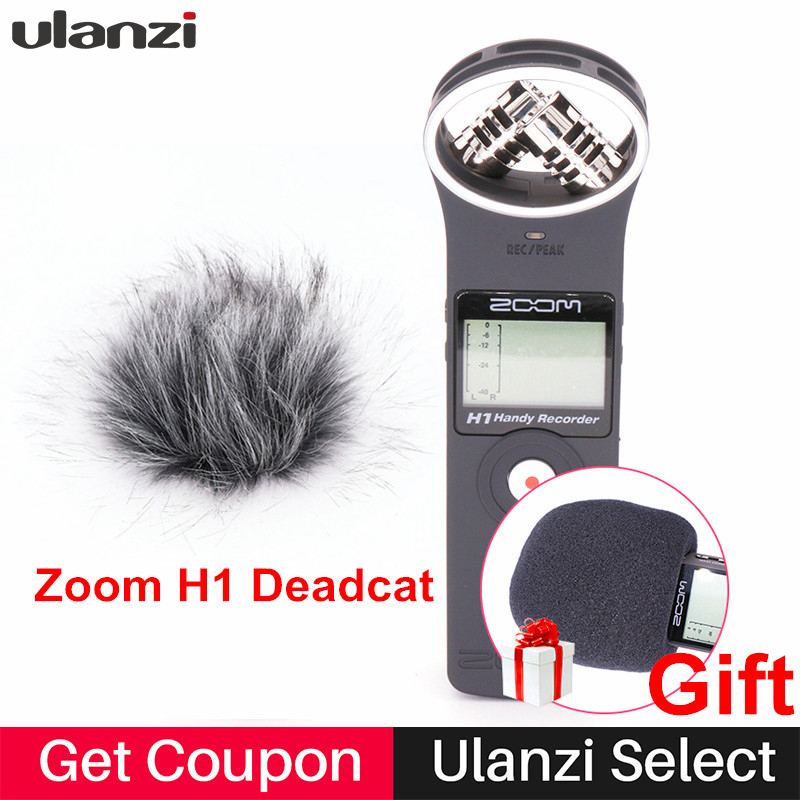 Ulanzi ZOOM H1 Handy Recorder Digital Camera Audio Recorder Stereo Microphone for Interview SLR Recording Microphone
