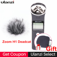 Wholesale prices Ulanzi ZOOM H1 Handy Recorder Digital Camera Audio Recorder Stereo Microphone for Interview SLR Recording Microphone Pen Handy