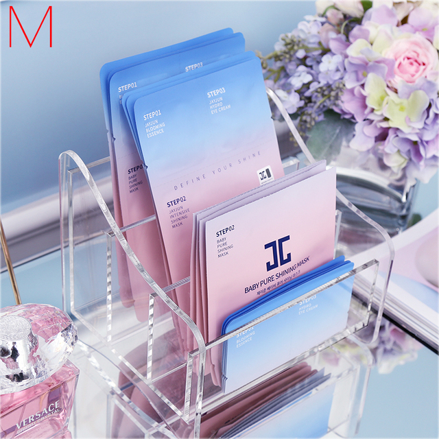 M New Arrival Mask Organizer Cosmetics Holder Mask Storage Box Acrylic Remote  Control Container Desktop Storage
