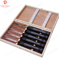 5pcs/set HSS Lathe Chisel Set Woodworking Turning Tool set HSS High Speed Steel Semicircle Knife Hand held Wooden Turning Tool