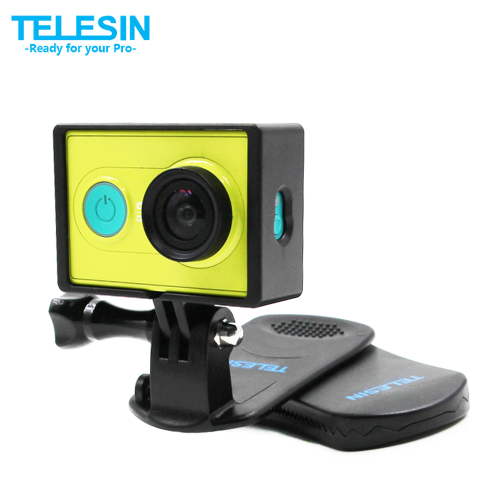 TELESIN 360 Rotating Backpack Clip Hat Clamp Mount Belt Buckle for GoPro and Xiaomi Yi 1, Xiaoyi 4K 4k+ Mijia 4K Action Camera