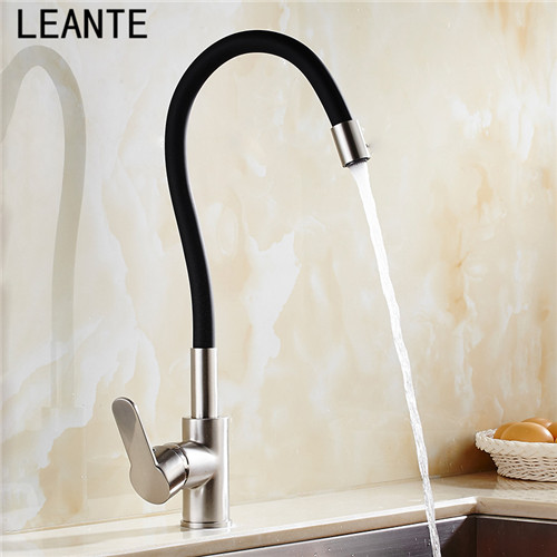 Aliexpress.com : Buy LEANTE Kitchen Universal Tube Hot And Cold Kitchen  Drawing Spring Taps Red Red Tricolics 9104 From Reliable Hot And Cold  Suppliers On ...