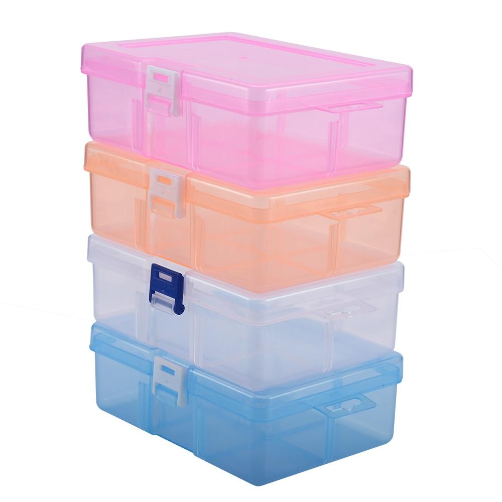 Transparent Jewelry Bead Cosmetics Storage Container Box Thicken