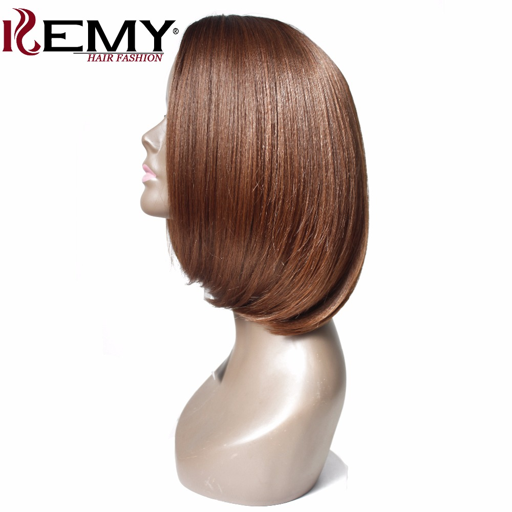 KEMY HAIR Short Bob Wigs For Black Women Straight Synthetic None Lace Wigs Side Part Shoulder Length Heat Resistant Machine Made