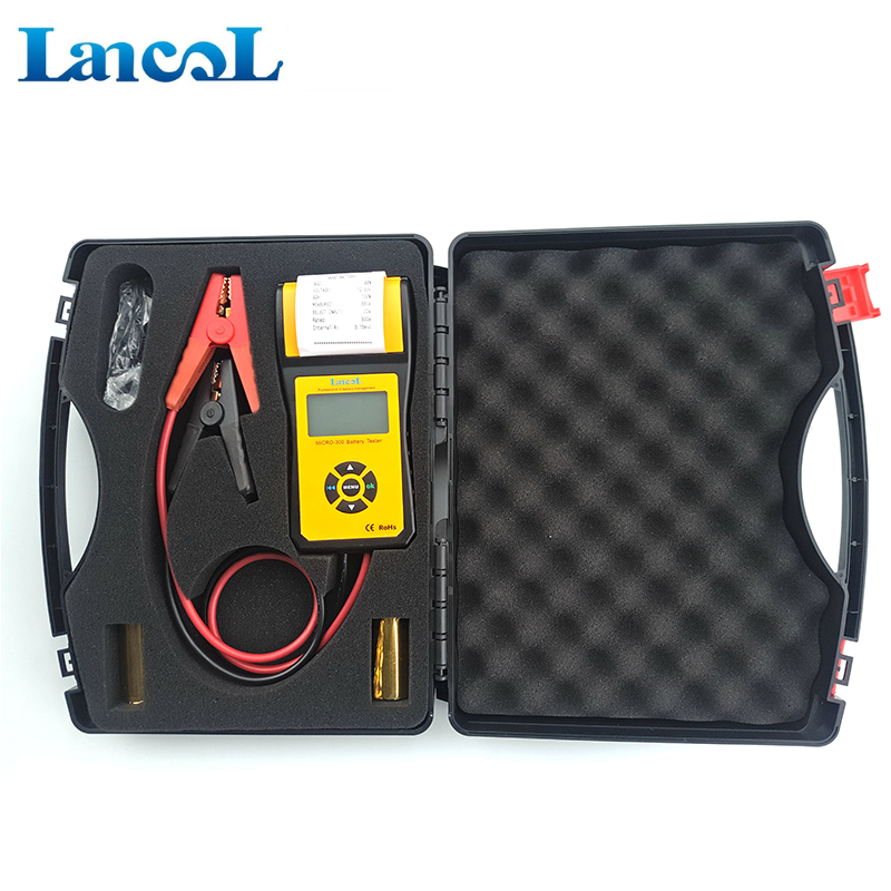 MICRO 300 Professional Lancol Diagnostic Tool battery Tester Analyzer CCA Battery Tester With Printer 200ah Internal