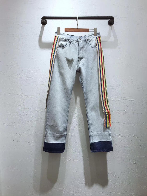 Boyfriend Jeans Casual-Trousers Denim Pants Streetwear Vintage Korean Women Ladies High