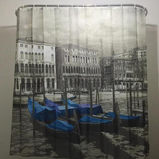 Venice Patterned Shower Curtain Stylish Family Bathroom