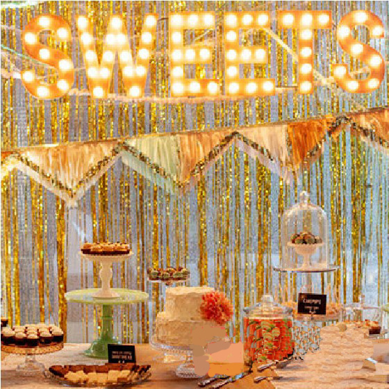 1x2m party decoration gold tinsel shimmer foil door curtain birthday christmas wedding photographs decoration backdrop - Foil Christmas Door Decorations