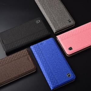 Image 5 - Case for ZTE Blade A7 2020 Plaid style Canvas pattern Leather Flip Cover for ZTE A7 2020 No fingerprint cases Coque