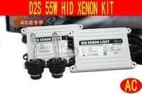 Envío gratis xenon HID Kit de lastre Delgado AC 55 W D2S D2C 4300 K, 5000 K, 6000 K, 8000 K, 10000K... Solo haz HID Kit de Conversión