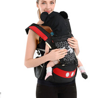 Ergonomic Baby Carrier Infant Baby Hipseat Carrier Front Facing Ergonomic Kangaroo Baby Wrap Sling for Baby Travel 0 36M