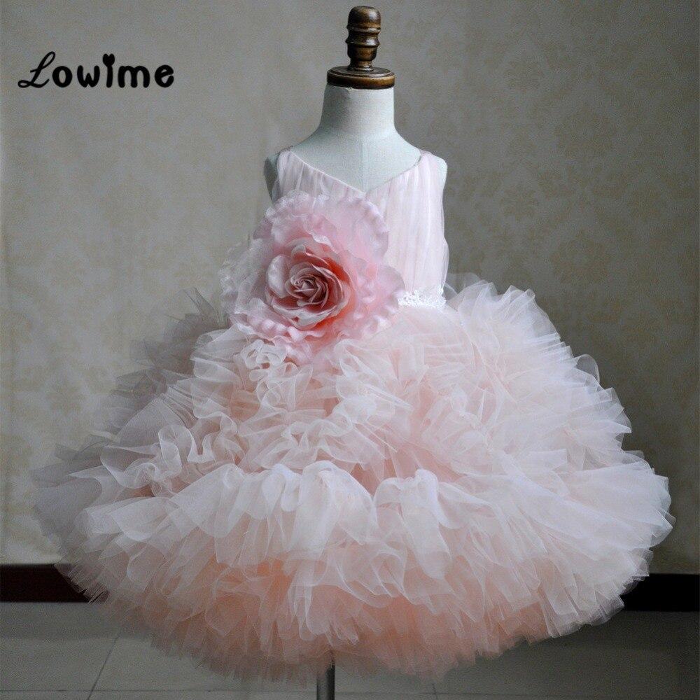 Pretty Pink Flower Girl Dresses For Weddings Robe Fille Enfant