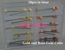 Envío gratis 20 unids acero inoxidable de varios tamaños oro venda de reloj de barras de primavera correa pasadores
