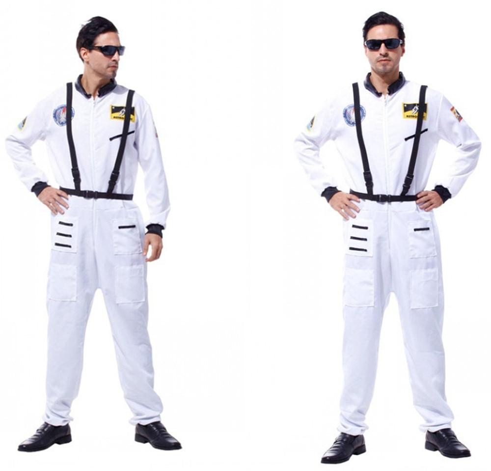 Хэллоуин вечерние костюмы астронавтов для взрослых мужчин оранжевый космический полет комбинезон наряд