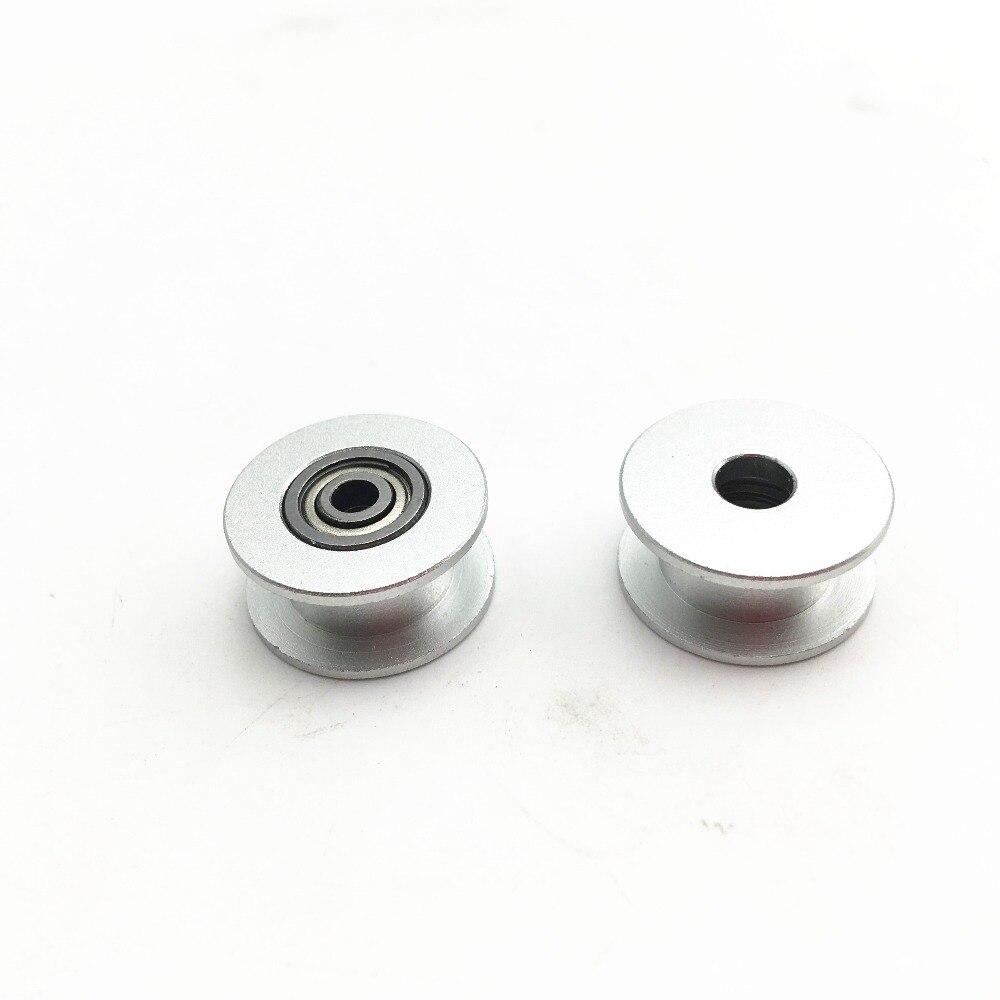 2 pcs Prusa i3 MK3/MK2 3mm alésage X/Y axe courroie de distribution, en aluminium anodisé plat rouleau fou 623 h roulements