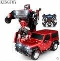По уходу за детьми RC автомобиль дистанционного управления деформируется автомобиля робот вспышка сменные робот игрушка красный цвет