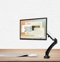 Monitor Holder 360 Degree Gas Spring 17 27 Table Arm Monitor Holder Mount Desktop Clamping Or Grommet With 2 USB Port NB F100
