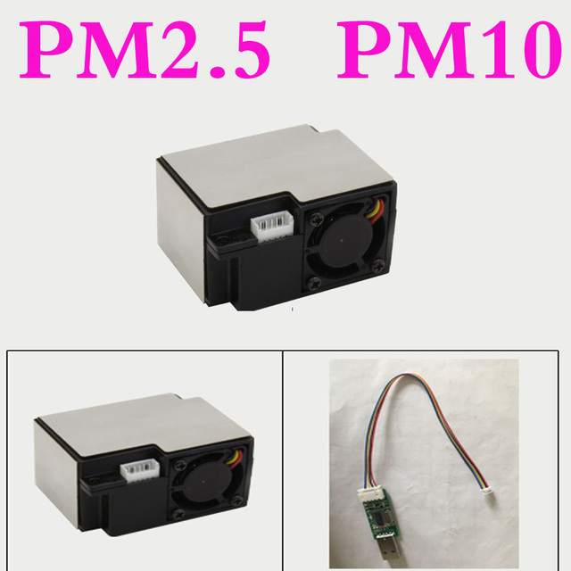 US $29 99 |Laser PM2 5 Sensor Module Small Volume pm2 5 PM10 Air Quality  Inspection Dust Tester Serial Output provide technical support-in Gas