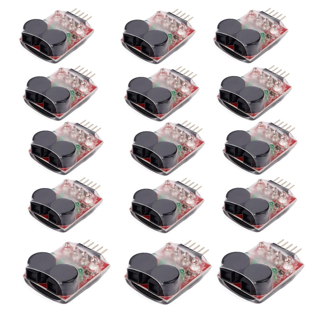 15pcs lot Lipo Battery Low Voltage Buzzer Alarm 7 4V 11 1V 14 8V