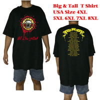 Big And Tall T Shirt Men Two Sides Guns N Roses Not In This Lifetime 2017
