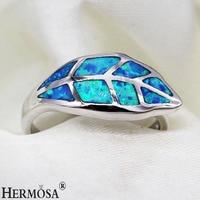XMAS GIFT Leaf Shaped Mystic Fire Australia Opal 925 Sterling Silver Ring Size 7 8 Fashion
