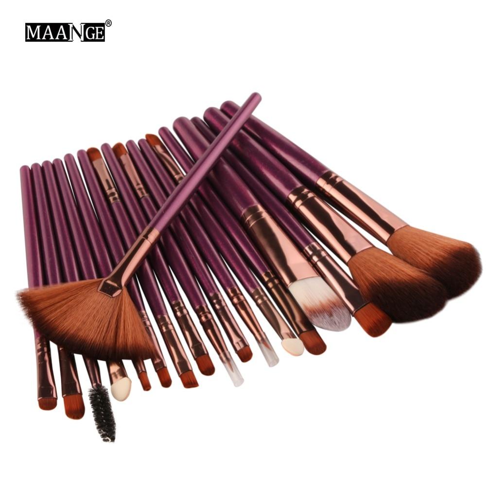 MAANGE 18Pcs Professional Makeup Brushes Set Powder Eyeshadow Highlighter Blusher Blending Cosmetics Make Up Brush Maquiagem