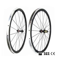 Catazer 700C 23mm Wide Road Bicycle Full Carbon Depth 38mm Clincher Wheelset With Alloy Aluminum Brake
