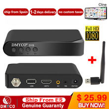 1 Year Europe channel server DVB-S2  D1S HD Receptor satellite Decoder+USB WIFI 1080p HD youtube Powervu satellite receiver цена и фото