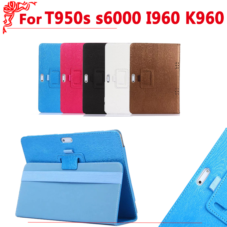 High Quality PU leather case for 9.6 inch T950s s6000 I960 K960 MTK6582 MTK6592 MTK8752 3G 4G phone call tablet 9.6 inch case