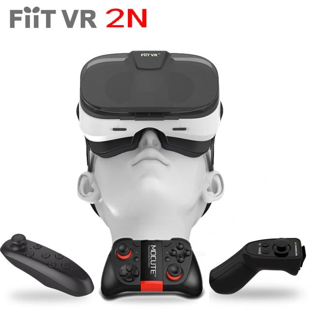 7f99a27d6741a Couro Óculos De Realidade Virtual 3D 2N FiitVR Smartphone Google Papelão  Modelo de Jogo de Vídeo