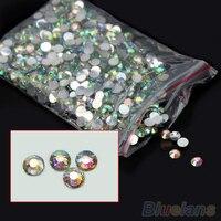 5 sets 4mm Flatback Crystal AB 14 Facets Resin Round Rhinestone Beads