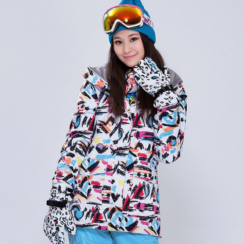 GSOU SNOW Ski Jacket Women Outdoor Ski Jacket Double Coat Windbreaker Snowboard Outdoor Sport Windproof waterproof Female Coat цена