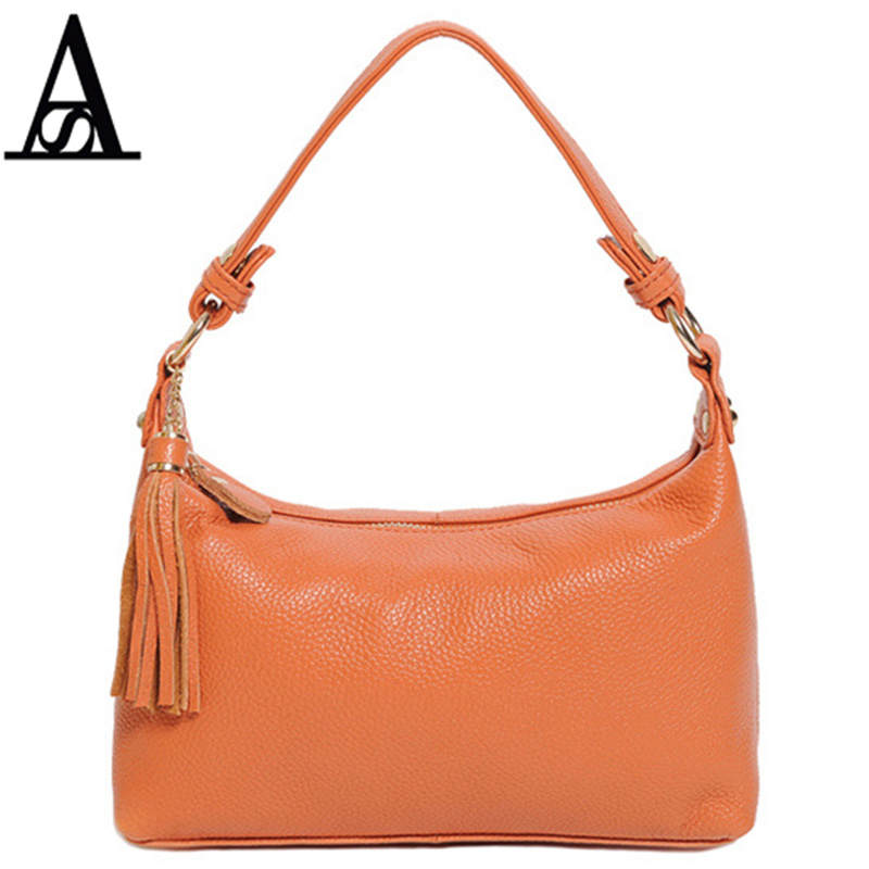 AITESEN Luxury High Quality Genuine Leather Half Moon Bags Michael Famous Brands Realer Women Handbags Bolsa Feminina Echt Leder