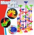 Top Quality 105 PÇS/SET DIY Construção de Mármore Corrida Corrida Labirinto Bolas Rastrear Blocos de Construção de Brinquedo Presente Das Crianças Do miúdo Do Bebê