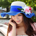 Sombrero Paja Fashion Large Brimmed Floppy Beach Hats Hot Sale 2015 New Arrival Women Summer Hats Chili Chapeau Femme Straw Hats