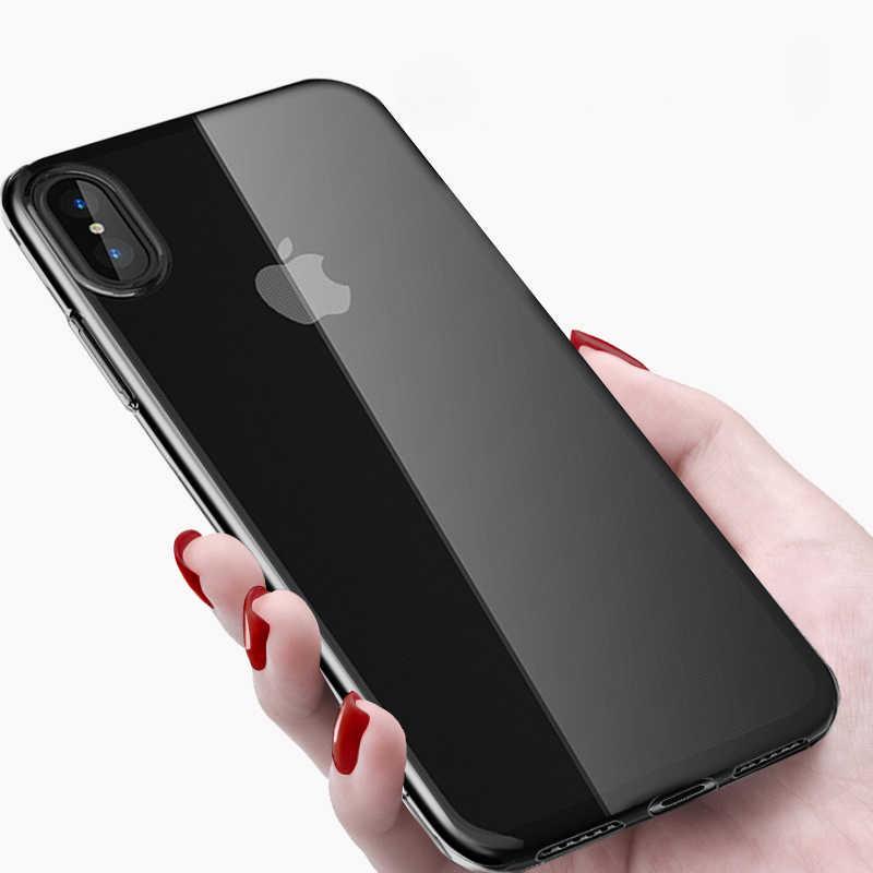 עמיד הלם קריסטל רך שקוף TPU מקרה עבור iPhone 5S SE 7 8 6 s בתוספת X 10 XS Max XR coque ברור סיליקון גומי מקרי טלפון