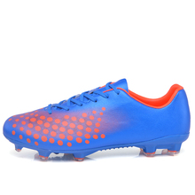 MAULTBY Men s Orange Blue AG Sole Outdoor Cleats font b Football b font Boots Shoes