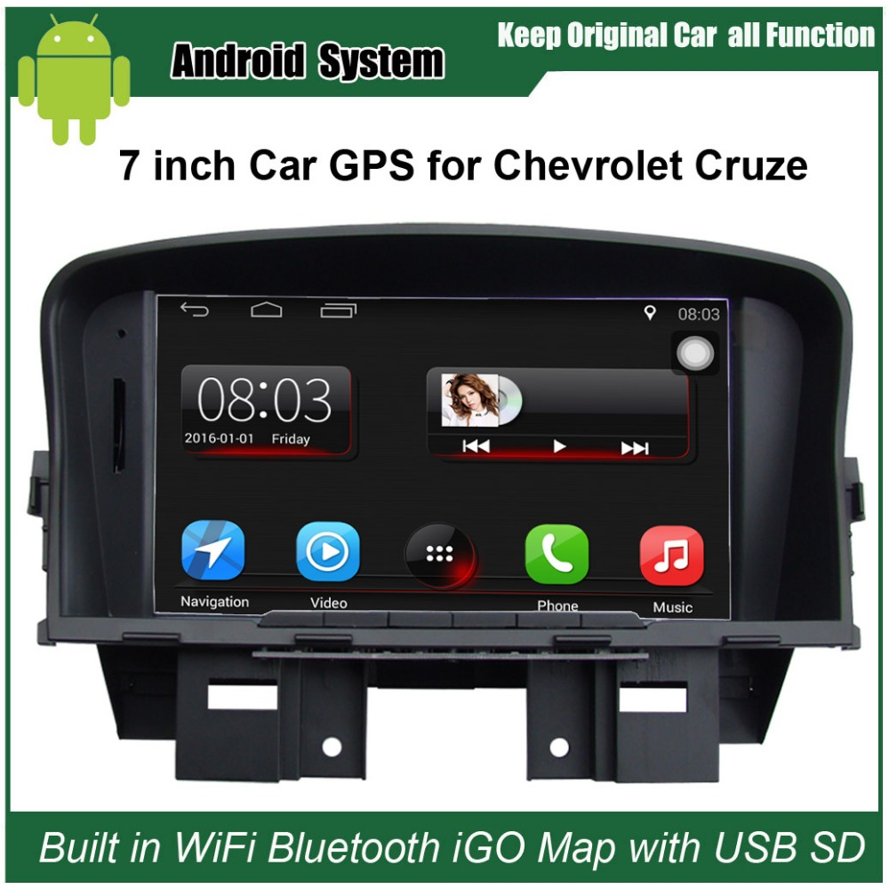 9c42cfb7df Ulepszony oryginalny Android 7.1 Radio samochodowe garnitur do Chevrolet  Cruze samochodowy odtwarzacz wideo zbudowany w WiFi nawigacja GPS z  bluetooth