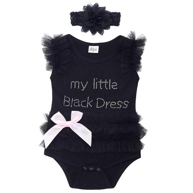 Bébé Fille Dentelle Costume Body avec Bandeau Set Mignon Infantile Parti Combishort 0-18 Mois