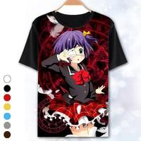 [XHTWCY] Japanese Anime T shirt Tops Cyuunibyou Demo Koigashitai Takanashi Rikka Summer style short sleeve T Shirt