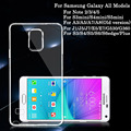 Ultra-delgado Claro Transparente de Silicona TPU de La Cubierta Suave Para Samsung Galaxy S4 S5 S6 S6 edge Nota 3 4 5 A3 A5 A7 J1 J5 J7 etc. casos