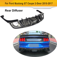 Диффузор заднего бампера из углеродного волокна для Ford Mustang для автомобиля с откидным верхом, 2 двери, только 2015 2017, американский рынок, автом