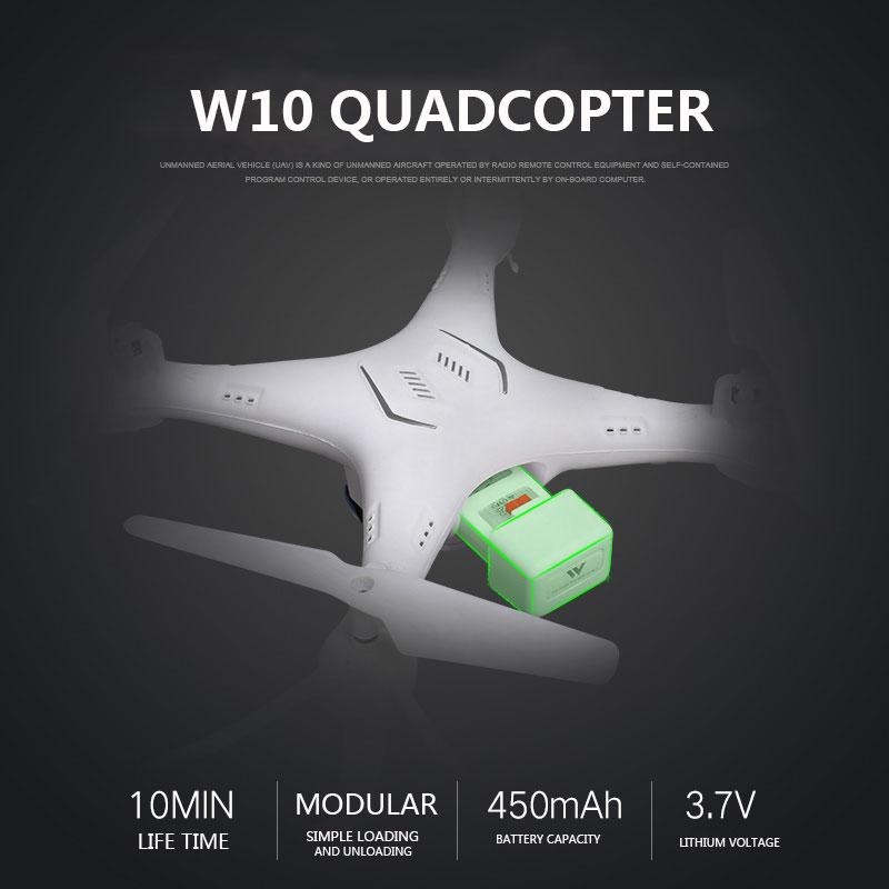 Мини W10 4CH 6-Axis 480 P WI-FI стабильный Gimbal 4CH 6-Axis 480 P дрона с дистанционным управлением для детей Прямая вертолет