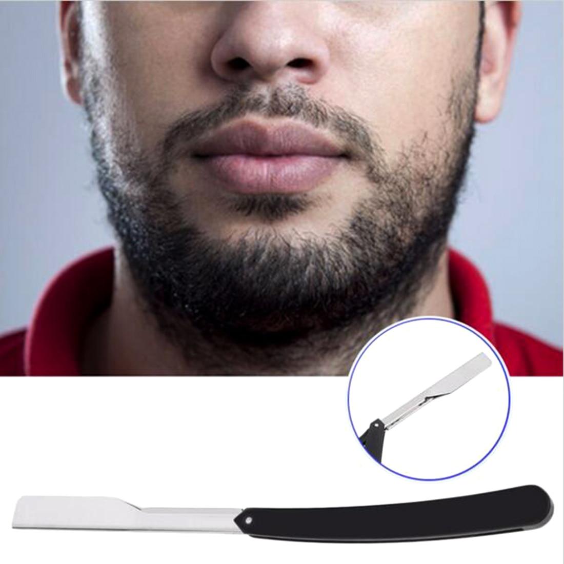 Straight Stainless Steel/Plastic Barber Razor Folding Shaving Razor Hair Removal Tools
