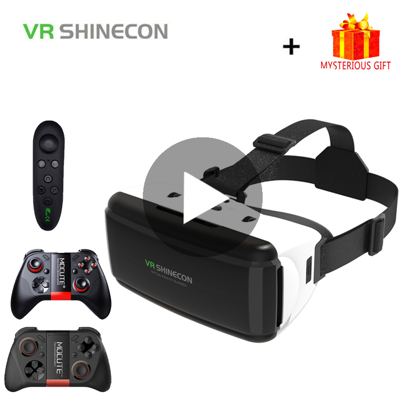VR Shinecon G06 Casque Helmet 3D Glasses Virtual Reality Lens For iPhone Android Smartphone Smart Phone Goggles Mobile Android in 3D Glasses Virtual Reality Glasses from Consumer Electronics