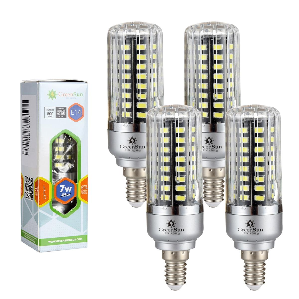 4/10 pcs 220V E14 5736 SMD LED Corn Bulb 3W/5W/7W/9W/12W/15W Full Watt Smart IC Lamp LED No Flicker Light Bulbs 2pcs real full watt 3w 5w 7w 8w 12w 15w e27 e14 led corn bulb 85v 265v smd 5736 led lamp spot light 28 40 72 108 132 156 leds