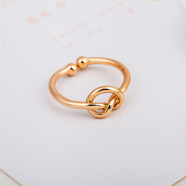 2017 Hot Fashion Trendy Simple Knot Opening High Quality Rings  Adjustable Ring For Women bague anel masculino Fashion Cute Wome