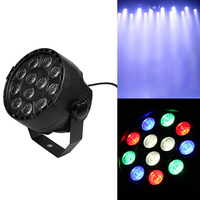 12LEDs 12W RGBW Bar Stage Projector Light 50 60Hz DMX Remote Control Disco Xmas Bar Party